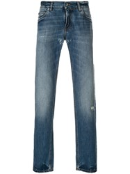 Dolce And Gabbana Distressed Detail Jeans Cotton Blue
