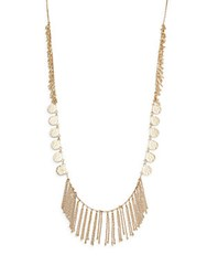 Catherine Malandrino Bohemian Metal Goldtone Disc And Tassel Necklace
