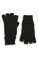 Trouve Basic Fingerless Gloves Black