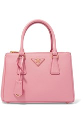 Prada Galleria Mini Textured Leather Tote Pink