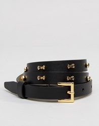 Ted Baker Micro Bow Belt Black