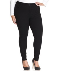 Style And Co. Plus Size Skinny Jeggings Black Wash