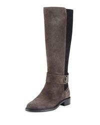 Aquatalia By Marvin K Giada Suede Tall Boot Gray