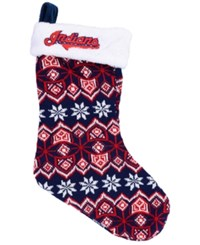 Forever Collectibles Cleveland Indians Ugly Sweater Knit Team Stocking Red