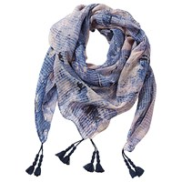 Betty Barclay Printed Square Scarf Blue