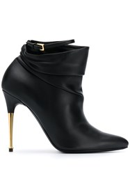 Tom Ford Gold Tone Heel 110Mm Ankle Boot 60