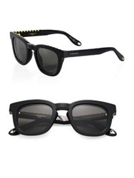Givenchy 48Mm Studded Wayfarer Sunglasses Black Mirror Black