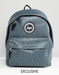Hype Exclusive Charcoal Gray Faux Ostrich Backpack Gray