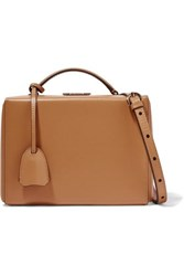 Mark Cross Grace Small Textured Leather Shoulder Bag Sand