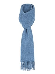 Paul Costelloe Lombard Brushed Lambswool Scarf Blue