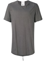 Lost And Found Rooms Carre T Shirt Cotton Linen Flax Grey