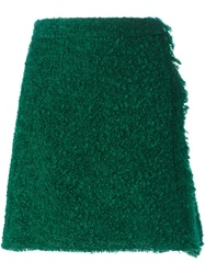Dolce And Gabbana Loop Knit Wrap Skirt Green