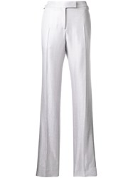 Tom Ford Sheer Tailored Trousers Metallic