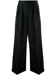 Estnation Pleated High Waisted Trousers Black