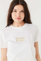 Urban Outfitters Impress No One Tee White
