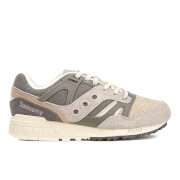 Saucony Men's Grid Sd Quilted Heritage Trainers Grey Light Tan Grey Tan