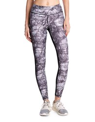 Danskin Elastic Waist Printed Leggings Midnight