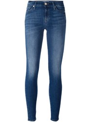 7 For All Mankind Stonewash Effect Skinny Jeans Blue