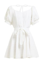 Innika Choo Madonna Phulmun Ramie Mini Dress White