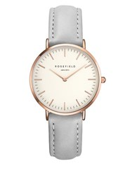 Rosefield The Tribeca Stainless Steel Leather Strap Analog Watch