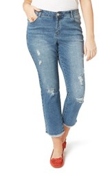 Evans Plus Size Women's Destroyed Crop Jeans Denim