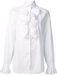Ralph Lauren Ruffled Detail Shirt White
