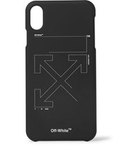 Off White Printed Iphone Xs Case Black