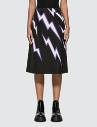 Prada Printed Poplin Skirt Black