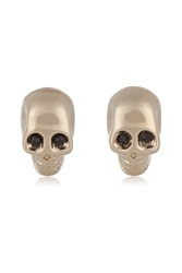 Givenchy Skull Earrings In Pale Gold Tone And Crystal