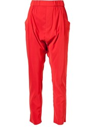Baja East Drop Crotch Trousers Red