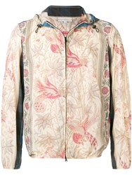 Pierre Louis Mascia Printed Hooded Jacket Neutrals