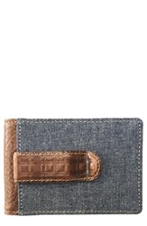 Boconi Caleb Bifold Wallet With Money Clip Brown Chestnut Chambray