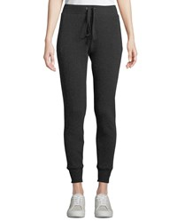 Enza Costa Cashmere Thermal Drawstring Jogger Pants Charcoal