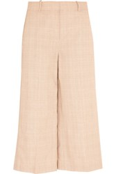 J.Crew Collection Plaid Linen And Cotton Blend Culottes Sand