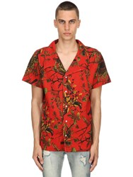 Profound Aesthetic Exotic Flower Button Down Camp Shirt Multicolor