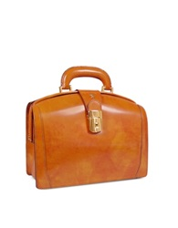 Pratesi Ladies Polished Italian Leather Briefcase Mustard Yellow
