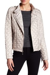 Kenneth Cole Quilted Moto Jacket White