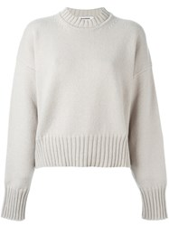 Jil Sander Drop Shoulder Sweater Nude And Neutrals