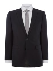 Hugo Men's Astian Hets Tonal Checked Two Piece Suit Black