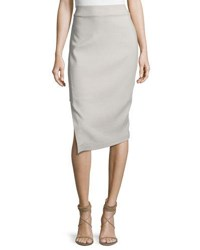 Brunello Cucinelli Panel Skirt With High Slit Dove