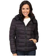 Save The Duck Basic Nylon With Hood Black Women's Coat