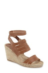 Women's Charles David 'Ona' Wedge Sandal Cognac Leather