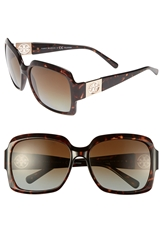 Tory Burch 59Mm Polarized Sunglasses Tortoise Brown