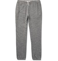 Maison Martin Margiela Slim Fit Tapered Loopback Cotton Jersey Sweatpants Gray