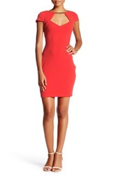 Jessica Simpson Cap Sleeve Sweetheart Dress Red