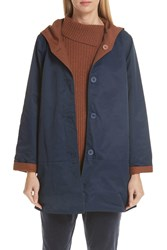 Eileen Fisher Reversible Hooded Jacket Regular And Petite Midnt