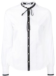 Guild Prime Pussy Bow Shirt White