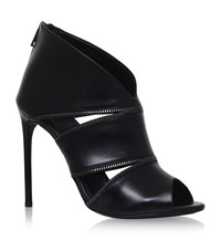 Tom Ford Zipped Leather Booties Female Black