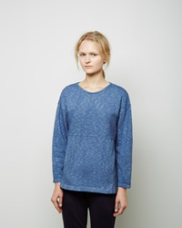 Blue Blue Japan Indigo Dyed Cotton Pullover Light Blue