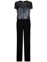 Fenn Wright Manson Venus Sequin Jumpsuit Black